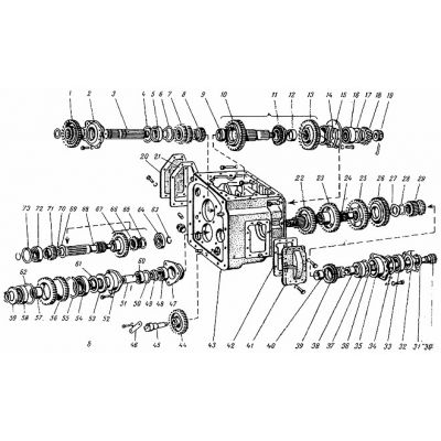 Схема переключения передач на тракторах МТЗ